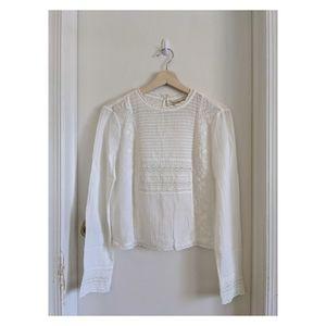 New white lace Zara blouse